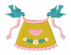 Blue Birds Apron embroidery design