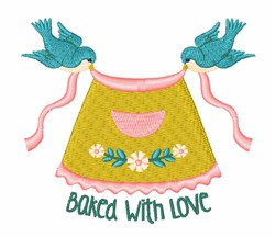 Baked Love embroidery design