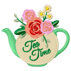 Tea Time embroidery design