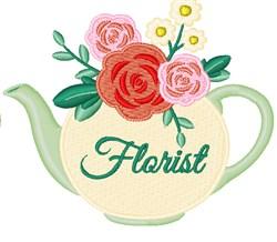 Florist embroidery design