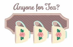 Anyone For Tea embroidery design