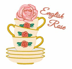 English Rose embroidery design