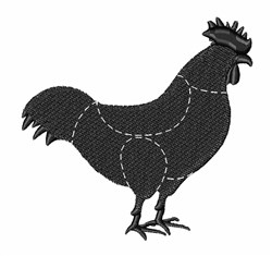Chicken Meat Cuts embroidery design