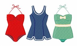 Bathing Suits embroidery design