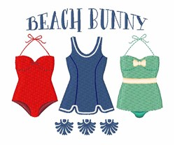 Beach Bunny embroidery design