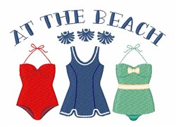 At The Beach embroidery design