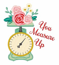 Measure Up embroidery design