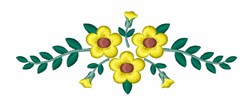 Yellow Flowers embroidery design