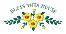 Bless This House embroidery design