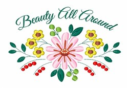 Flower Beauty embroidery design
