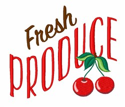 Fresh Produce embroidery design