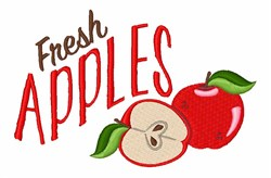 Fresh Apples embroidery design