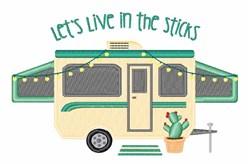 Live In Sticks embroidery design