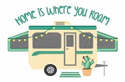 Where You Roam embroidery design