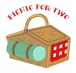 Picnic For Two embroidery design
