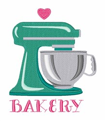 Bakery embroidery design