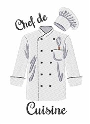 Chef De Cuisine embroidery design