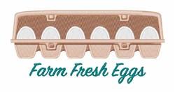 Farm Fresh Eggs embroidery design