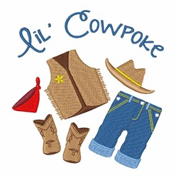 Lil Cowpoke embroidery design