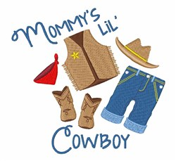 Mommys Cowboy embroidery design