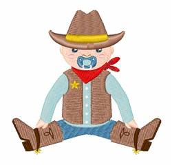 Baby Cowboy embroidery design