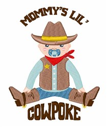 Mommys Cowpoke embroidery design