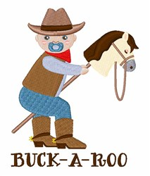 Buck-A-Roo embroidery design