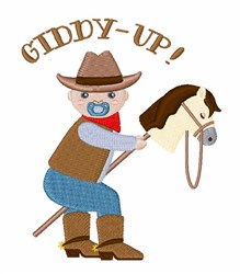 Giddy-up embroidery design