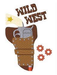 Wild West embroidery design