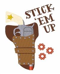 Stick Em Up embroidery design
