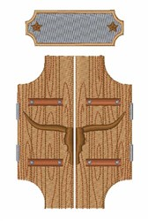 Saloon Door embroidery design