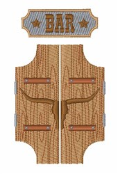 Western Bar embroidery design