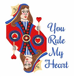 Rule My Heart embroidery design