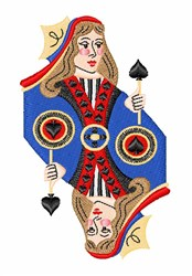 Spades Queen embroidery design