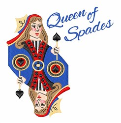 Queen Of Spades embroidery design