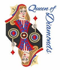 Queen Of Diamonds embroidery design