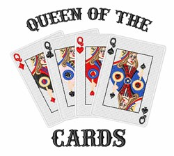 Queen Of Cards embroidery design