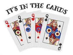 In The Cards embroidery design