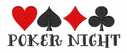 Poker Night embroidery design