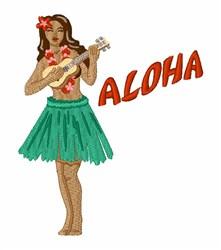 Aloha Girl embroidery design