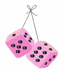 Fuzzy Dice embroidery design