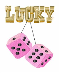 Lucky Dice embroidery design