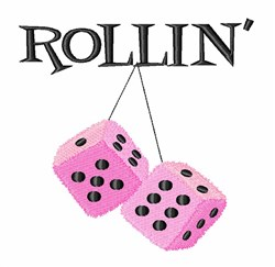 Rollin Dice embroidery design