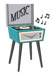 Music Player embroidery design
