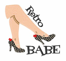 Retro Babe embroidery design