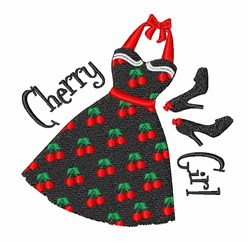 Cherry Girl embroidery design