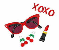 Retro XOXO embroidery design
