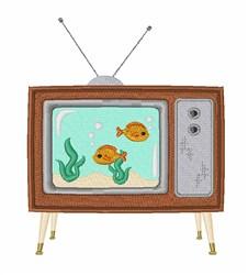 TV Aquarium embroidery design