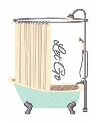 Let Go Shower embroidery design