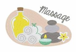 Spa Massage embroidery design